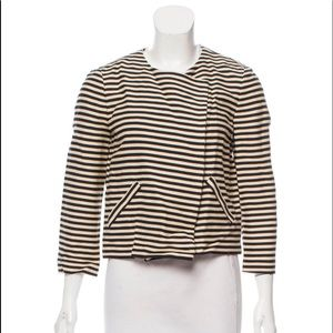 Elizabeth & James cropped striped blazer
